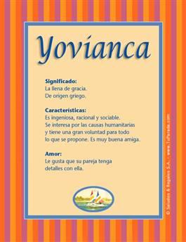 Nombre Yovianca
