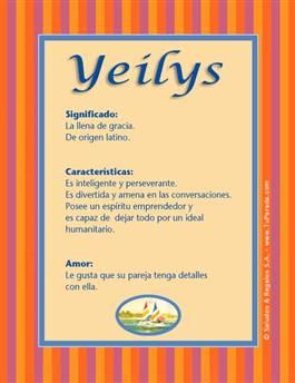 Nombre Yeilys