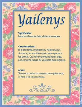 Nombre Yailenys