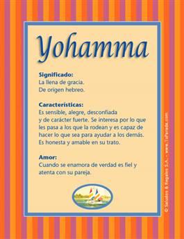 Nombre Yohamma