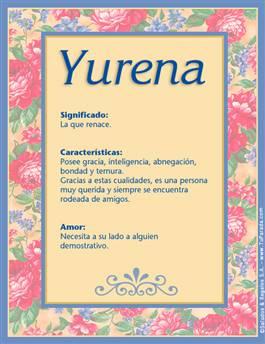 Nombre Yurena