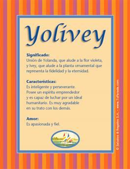 Nombre Yolivey