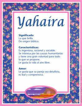 Nombre Yahaira