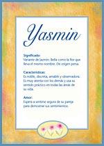 Nombre Yasmin