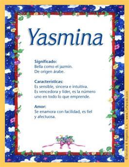 Nombre Yasmina