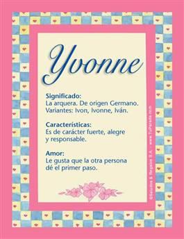 Nombre Yvonne