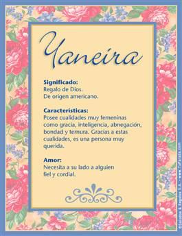 Nombre Yaneira