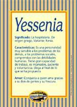Nombre Yessenia