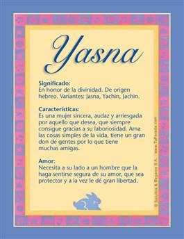 Nombre Yasna