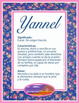 Nombre Yannel