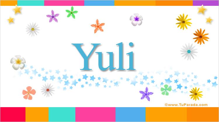 Yuli, imagen de Yuli