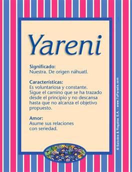 Nombre Yareni