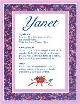 Nombre Yanet