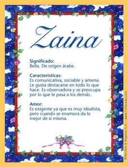 Nombre Zaina