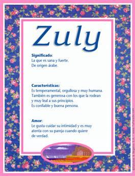 Nombre Zuly