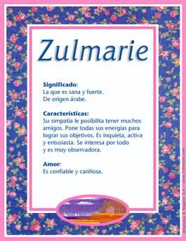 Nombre Zulmarie