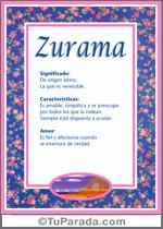 Nombre Zurama