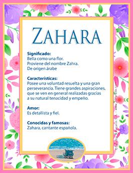 Nombre Zahara