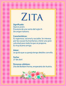 Nombre Zita
