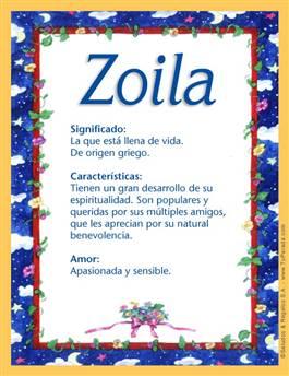Nombre Zoila
