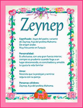 Nombre Zeynep