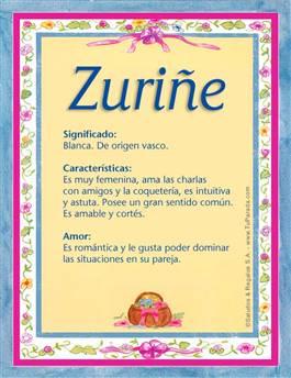 Nombre Zuriñe