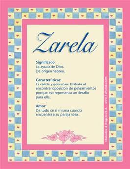 Nombre Zarela