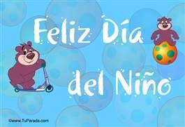 Tarjetas De Día Del Niño Postales Para El Dia Del Niño