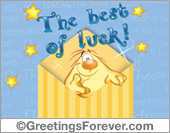 Best of luck wishes in envelope.