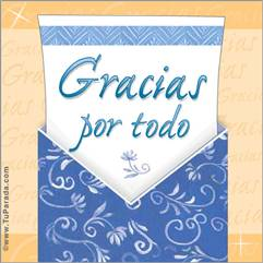 Tarjeta de Gracias
