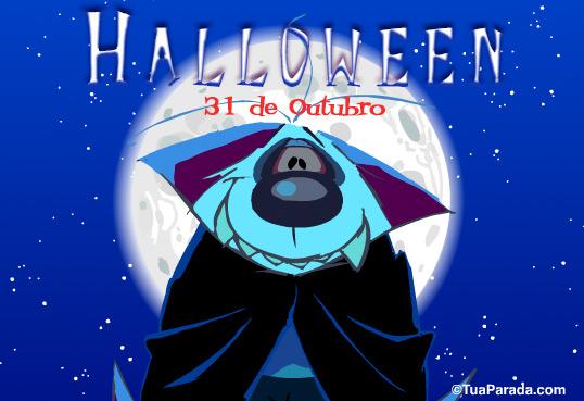 Cartão - Vampiro Halloween