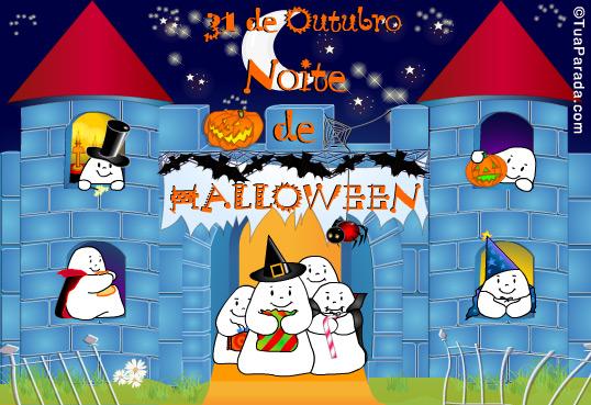 Cartão - Halloween: Coloque as imagens que faltam...