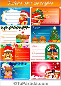 Stickers para tus regalos