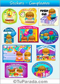 Stickers para Cumpleaños