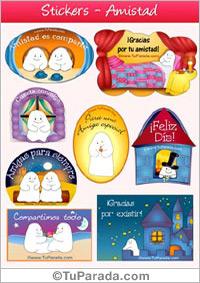 Tarjeta de Stickers para regalos y agendas