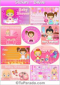 Stickers de nacimiento en rosa