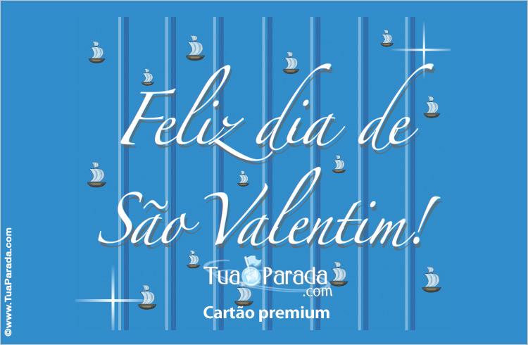 Cartão - Feliz dia de São Valentim