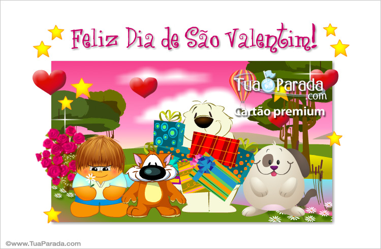 Cartão - Feliz dia de São Valentim!