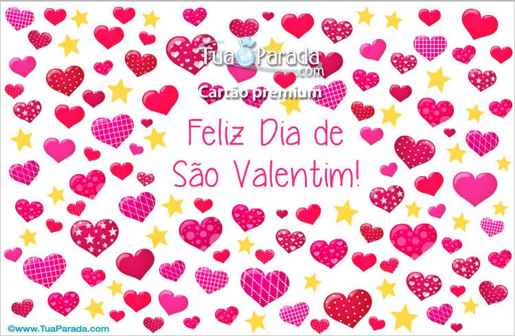 Cartão - Cartão de São Valentim