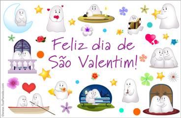 Cartão de Feliz dia de São Valentim