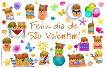 Cartão de feliz São Valentim