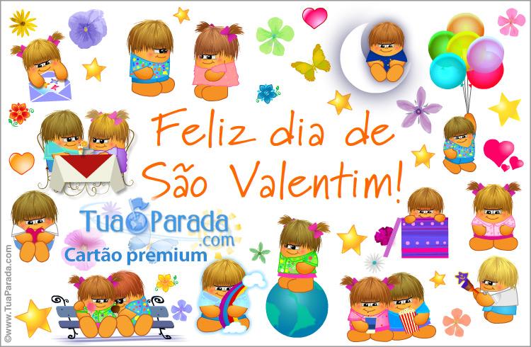 Cartão - Cartão de feliz São Valentim