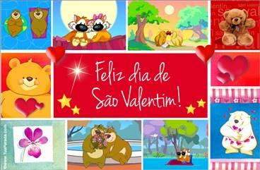 Cartão do Valentim com imagens