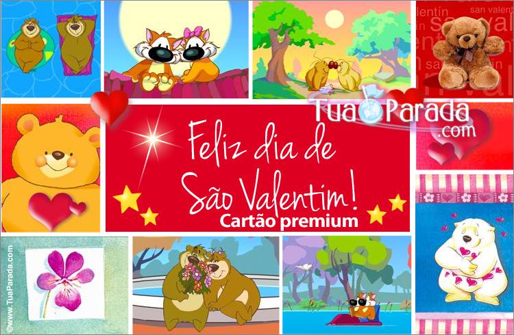 Cartão - Cartão do Valentim com imagens