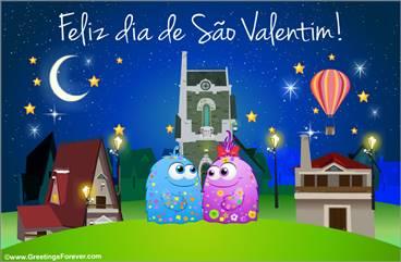 Postal de São Valentim para você