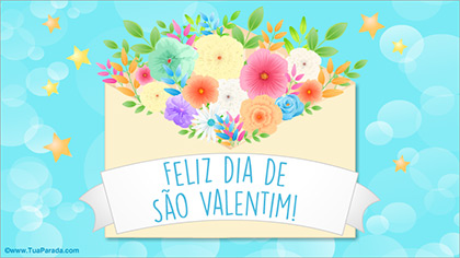 Cartão do Valentim com flores