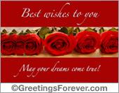 May your dreams come true!