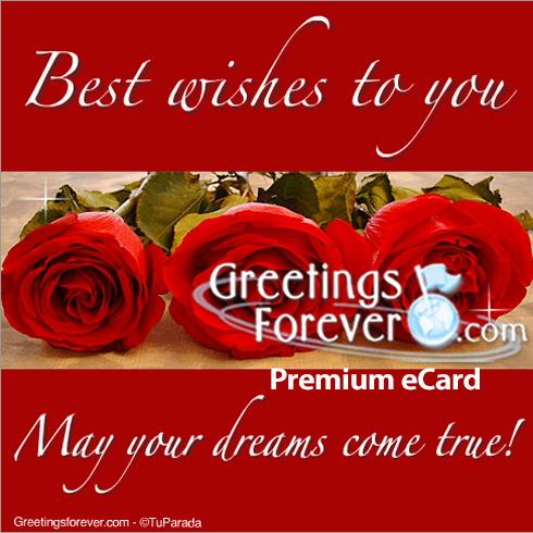 Ecard - May your dreams come true!