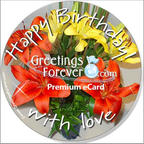 Ecard - Happy Birthday with love.