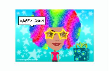 Create a Pop Birthday eCard for women